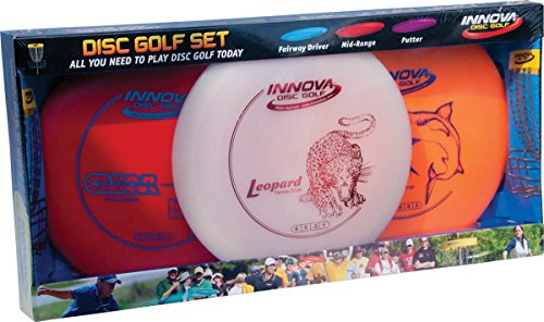 (Innova Disc Golf Set - Driver, Mid-Range & Putter, Comfortable DX Plastic, Colors May Vary (3 Pack))
