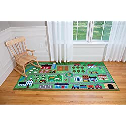 "Olive Kids Farm Land Play Rug Toy, One Color, 80"" x 39"""