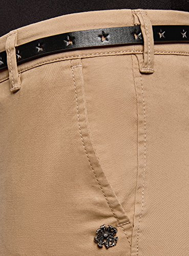 Avec Pantalon Oodji Ceinture Beige3500n Femme Ultra Chino KcJT3l1F