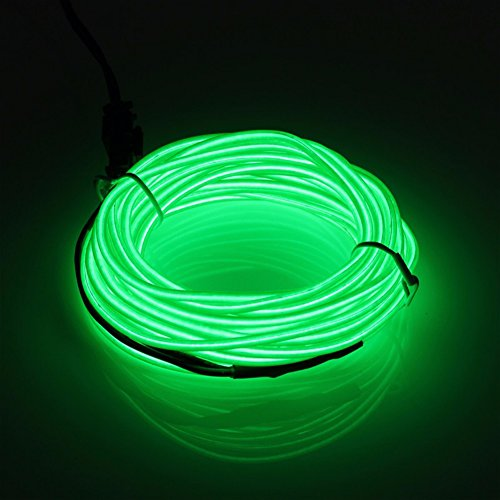 YCDC 4X Dark Green Flexible EL Wire Lights Glow +3V Controller Dance Party Decor by YCDC (Image #1)