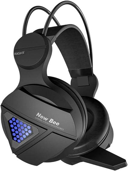 Auriculares con Cable para Auriculares estéreo de Alta fidelidad con micrófono para PS4 Fortnite Xbox One: Amazon.es: Electrónica