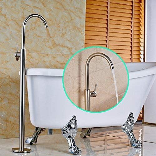ShiSyan シャワーシステム、 蛇口ステンレススチールニッケルブラシは、仕上げ床はバスタブ蛇口シングルハンドルのミキサーのタップ、ダークカーキをマウント シャワーヘッド セット 節水