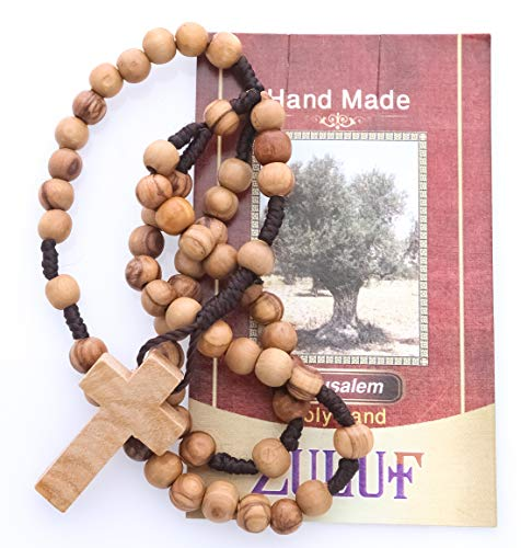 Zuluf Original Jerusalem Olive Wood Rosary from The Holy Land Rosary - ZROS004