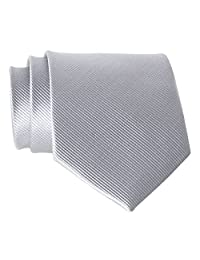New Polyester Textile High Quality Men's Neckties Light Gray Solid Color Neck Tie