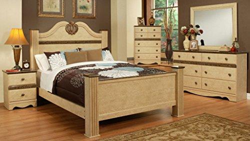Sandberg Furniture 436I Casa Blanca Bedroom Set, Eastern King