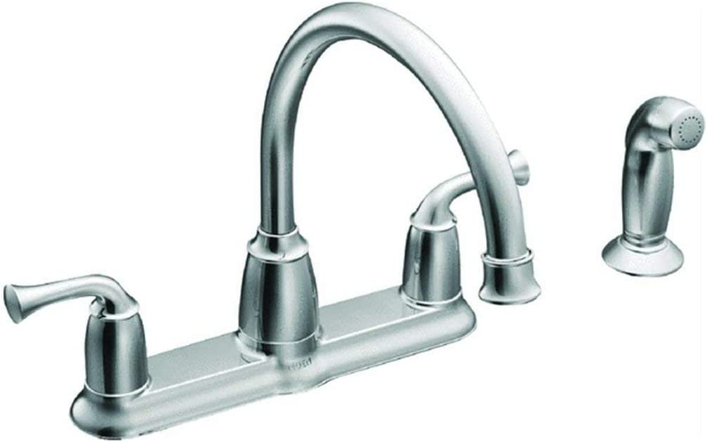 Moen Ca87553 High Arc Kitchen Faucet With Side Spray From The Banbury Collection Chrome Amazon Com