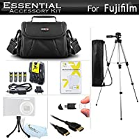 Essential Accessories Kit For Fuji Fujifilm Finepix S8200 S8300, S8400, S8500, S8600, S9200, S9400W, S9800, S9900W Camera Includes 4 AA Rechargeable NIMH Batteries + Charger + Case + 50 Tripod + More