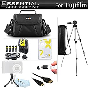 "Essential Accessories Kit For Fuji Fujifilm Finepix S8200 S8300, S8400, S8500, S8600, S9200, S9400W, S9800, S9900W Camera Includes 4 AA Rechargeable NIMH Batteries + Charger + Case + 50"" Tripod + More"