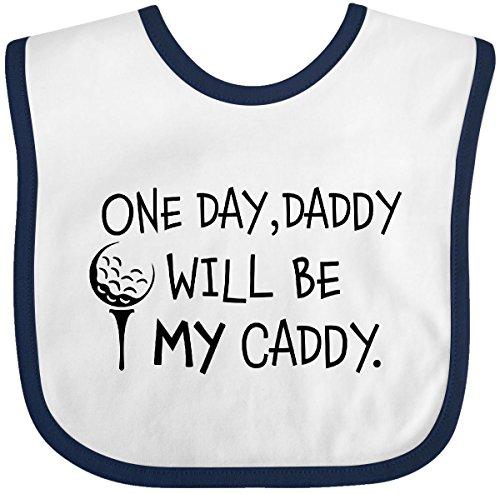 Caddy One Golfers - Inktastic - One Day, Daddy Will be MY Caddy- kids Baby Bib White/Navy 2c49a