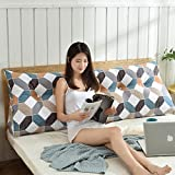DGF Double Bed Triangle Cotton Mattress Soft Bag Cushion Pillow Bed Head Bed Head Cushion (washable) (Energy A +) ( Color : 2# , Size : 120cm )