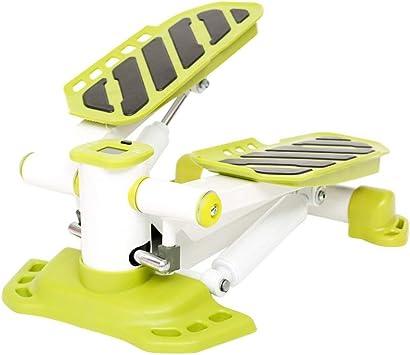 Pan&Pan Mini Paso a Paso, máquina de Ejercicios Twister, Paso a Paso, Escalador de escaleras de Aire, con Monitor de Entrenamiento para el Ejercicio en el hogar (Mini Paso a Paso), Verde: