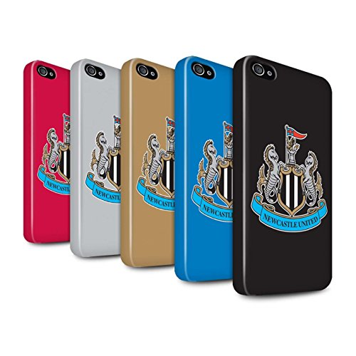 Offiziell Newcastle United FC Hülle / Glanz Snap-On Case für Apple iPhone 4/4S / Pack 12pcs Muster / NUFC Fußball Crest Kollektion