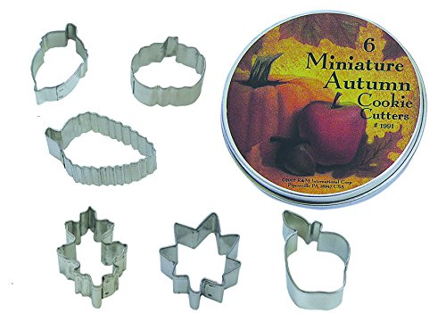 mini autumn cookie cutters - 1