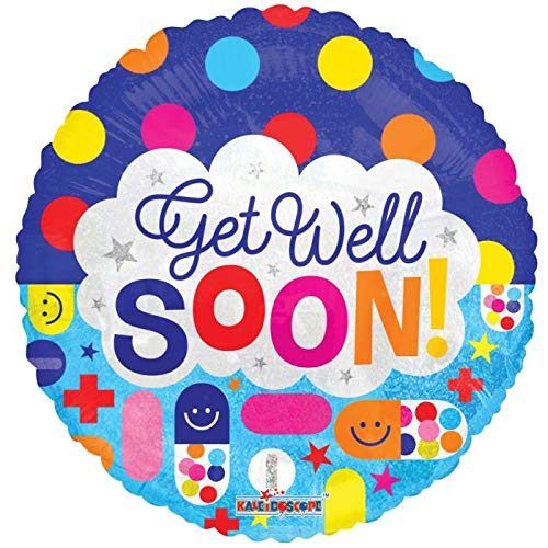 Get Well Soon 18'' Mylar Balloon Get Well Soon Birthday Party Decorations Supplies