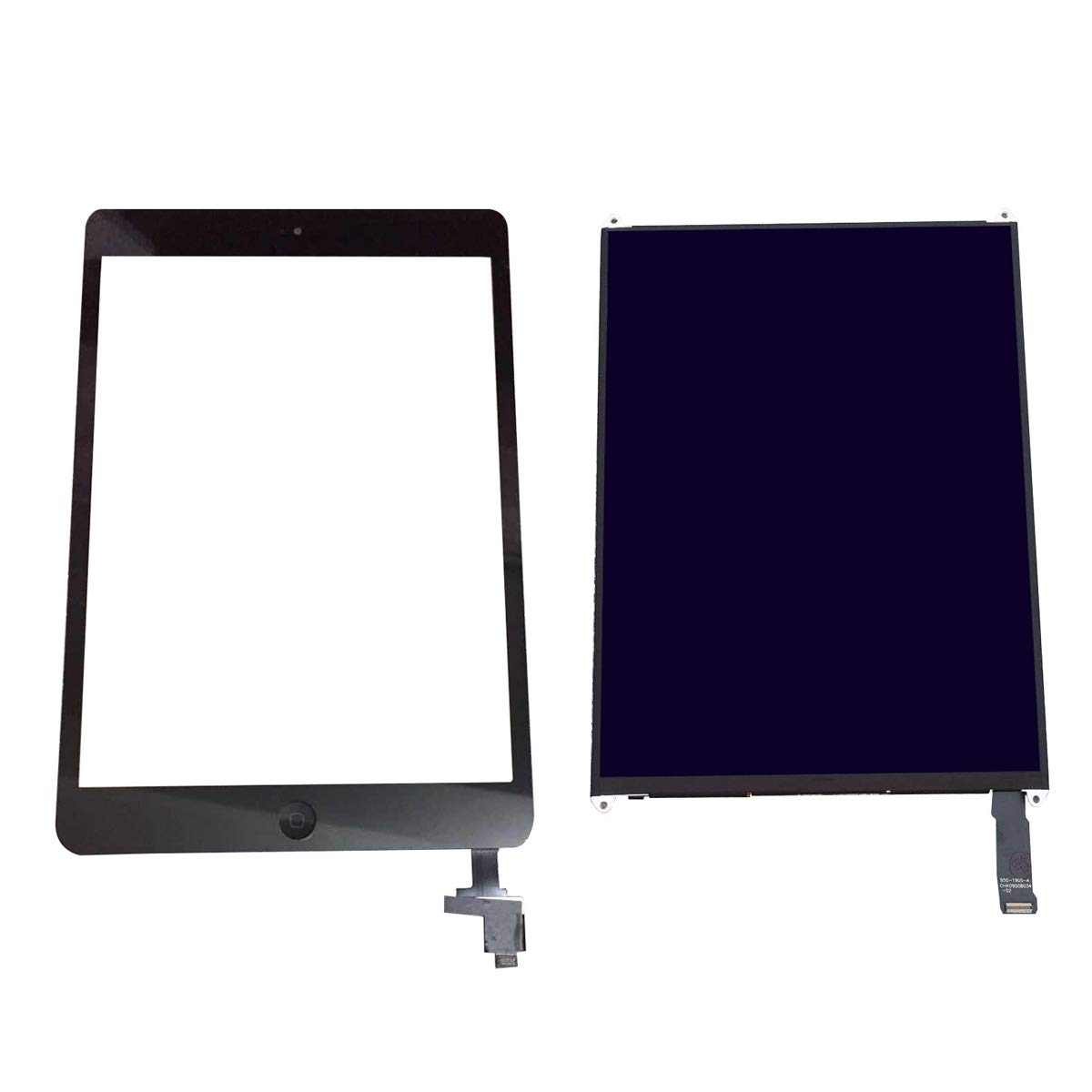 Compatible with LCD Screen Parts for ipad Mini 2, Including A1489 A1490 LCD Screen +Black Touch Screen with IC chip + Home Button + Adhesive Double-Sided Tape + Tool