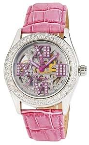 Burgmeister Ravenna BM140-108 - Reloj de mujer automático, correa de piel color rosa
