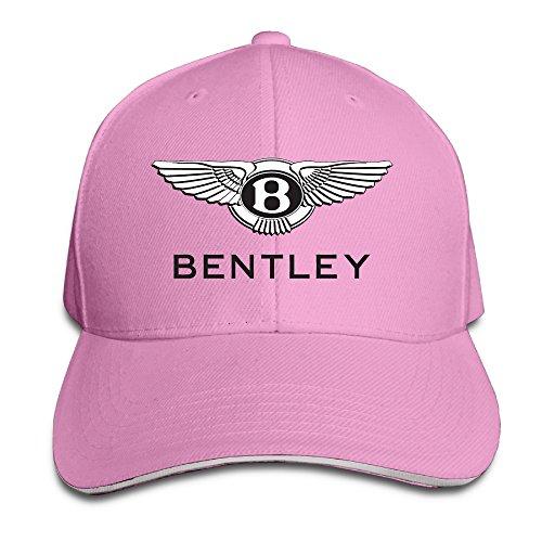 HmkoLo Bentley Motor Logo Sandwich Baseball Caps For Unisex Adjustable Pink