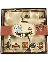 Fox Run 36006 Pirate's Treasure Cookie Cutter Set, Tin-Plated Steel, 5-Piece