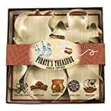 Fox Run 36006 Pirate's Treasure Cookie Cutter Set, Tin-Plated Steel, 5-Piece