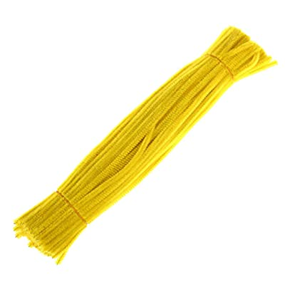 100PCS DIY Pipe Cleaners, Chenille Stems Pipe Cleaners, Art Supplies, Creative Arts and Crafts, for DIY Crafts,Wedding,Home,Party,Holiday Decoration (Yellow): Arts, Crafts & Sewing