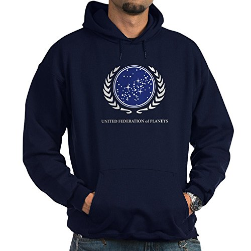(CafePress Star Trek United Federation of Plane Pullover Hoodie, Classic & Comfortable Hooded Sweatshirt Navy)