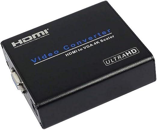 Negaor AM-937 4Kx2K HDMI-VGAコンバータービデオコンバーターHDMI-VGA 4KスケーラーアダプターFL / FRデジタルアナログコンポジットUSプラグ