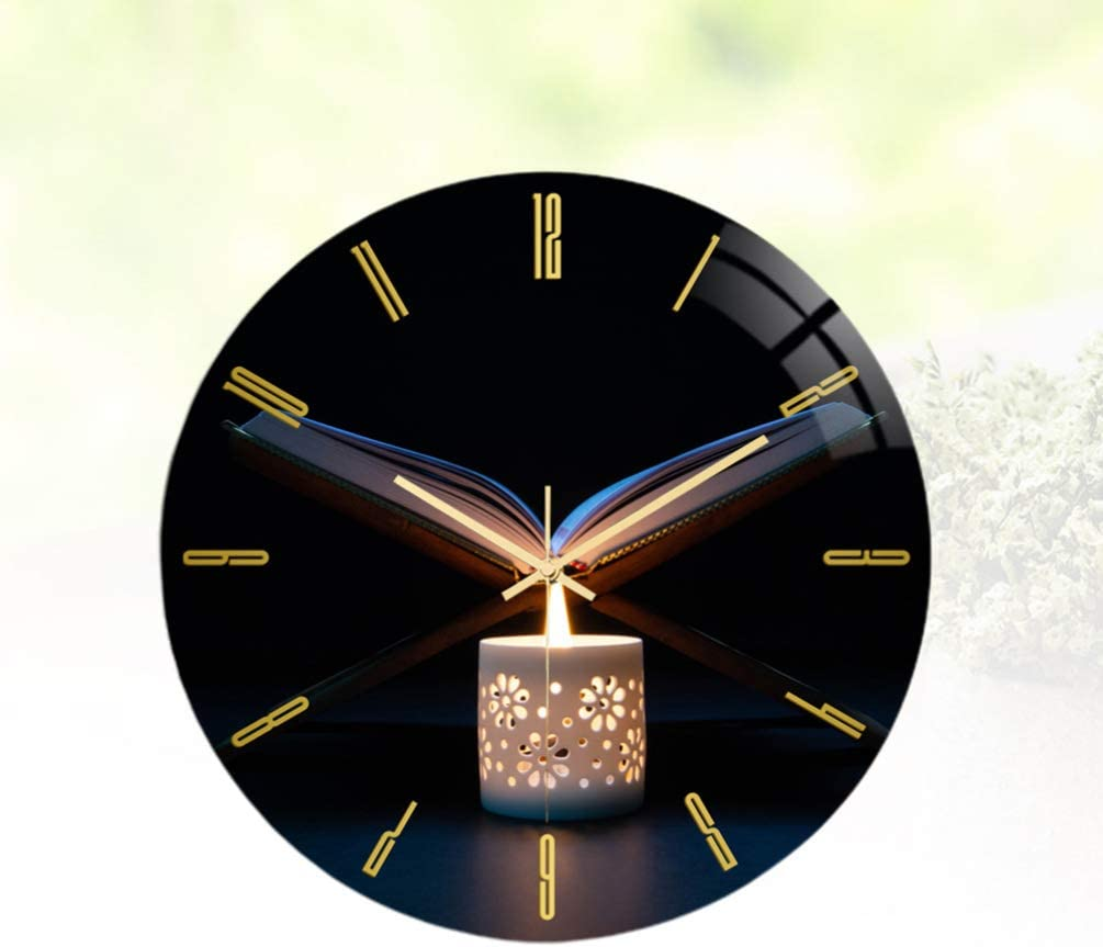 Without Battery HEALLILY Non Ticking Wall Clock Islamic Wall Clock ...
