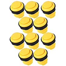 BQLZR Classic 28mm Round Arcade Push Button For Arcade Mame USB PC Joystick DIY Pack Of 10