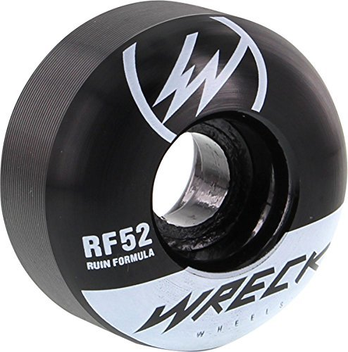 頭迫害する団結Wreck W1 52mm 101a Black White Skate Wheels by Wreck Wheels [並行輸入品]