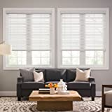 Ultra Premium White 2'' Inch CORDLESS Faux Wood Blind 26'' W x 64'' L (ACTUAL SIZE 25-1/2''x64'') - Custom Cut Fast Shipping