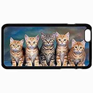 Customized Cellphone Case Back Cover For iPhone 6 Plus, Protective Hardshell Case Personalized Cat Black