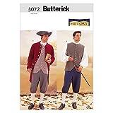 Butterick Patterns B3072 Historical Costume (Coat, Vest, Shirt, Pants and Hat), Size 44-46-48