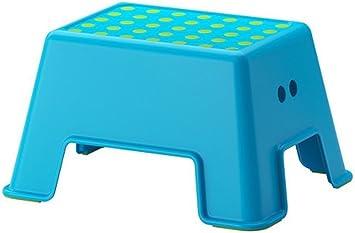 Amazon Com Ikea Bolmen 9 88 Inch Step Stool Blue Home Improvement