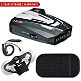 Cobra XRS9370 High-Performance Radar/Laser Detector with 360-Degree Protection + Car Mat Bundle + 1 Year Extended Warranty