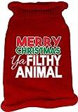 Mirage Pet Products 621-16 XLRD Ya Filthy Animal Screen Print Knit Red Pet Sweater, X-Large