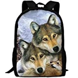 Best Harmony Pc Brands - Zx7CAp3 Wolf Harmony Wildlife Animal Laptop Backpack, Travel Review