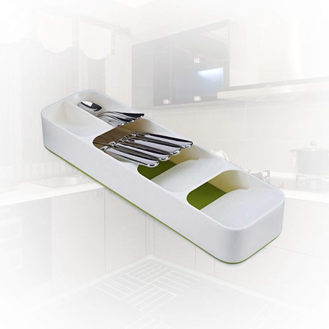Cuchara Caja de Almacenamiento Aiqingse Pragmatic Bandeja organizadora para caj/ón de Cocina cuberter/ía y organizaci/ón de Almacenamiento de Cocina cuberter/ía separaci/ón