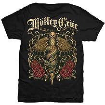 Motley Crue Winged Dagger Rock Metal Official Tee T-Shirt Mens Unisex