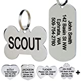 GoTags Stainless Steel Pet ID Tags, Personalized