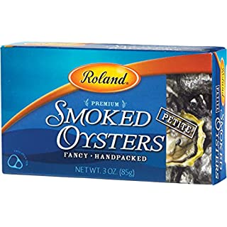 Roland Oysters, Petite Smoked, 3 Ounce (Pack of 10)