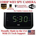 SecureGuard 1080P HD WiFi Wireless IP Alarm Clock Radio Hidden Security Nanny Cam Spy Camera with 16GB SD Card Included ( 100% COVERT / No Pinhole / No Lights Sounds / No buttons )