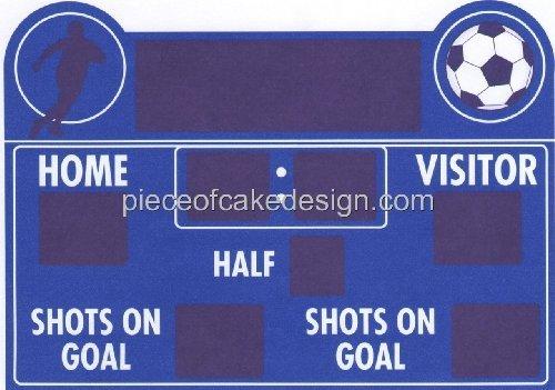 Soccer Scoreboard ~ Edible Cake Topper by A Birthday Place - Scoreboard Photo