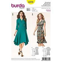 Burda Ladies Sewing Pattern 6574 Panelled Skirt Wrap Dresses
