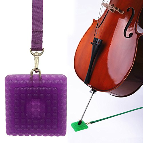 L'MS Silica Gel Cello Anti-slip Endpin Anchor Spike End Pin Rest Holder Floor Protector - Purple Cello