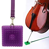 L'MS Silica Gel Cello Anti-slip Endpin Anchor Spike End Pin Rest Holder Floor Protector (Purple)
