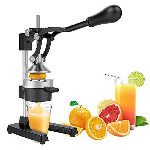 Yaheetech Commercial Metal Orange Lemon Juicer - Heavy Duty Manual Fruit Squeezer with Stainless Steel Funnel Black