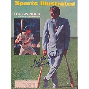 "Harrelson, Ken ""Hawk"" 9/2/68 autographed magazine"
