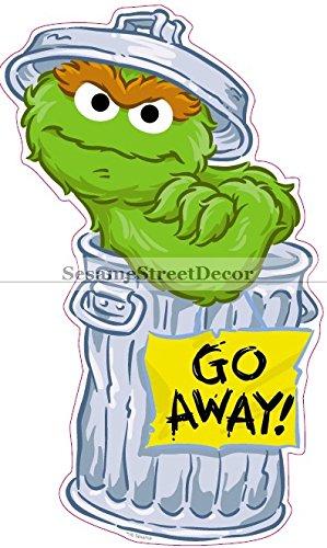 Amazon Com 8 Oscar The Grouch Trash Can 123 Sesame Street
