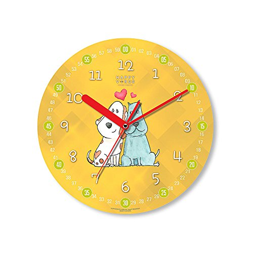 HappyVirus 11.22'' Educational Wall Clock, Children's Time Telling Teacher, Silent Non Ticking Home Decoration (Love You) #2129 by HappyVirus