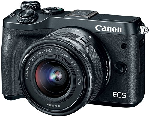 Canon EOS M6 HD Wi-Fi Digital ILC Camera & EF-M 15-45mm IS S